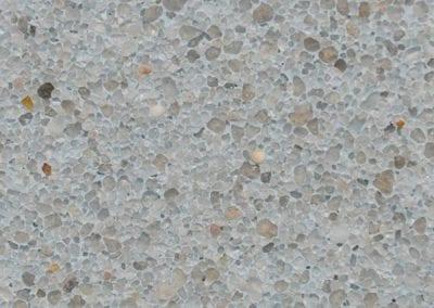 Light blue-grey, smooth stone